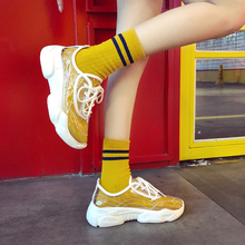 Transparent Vulcanized Shoes Round Rubber Sneakers Women She