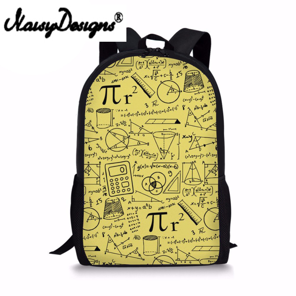 2018 Newest Happy Satchels Math Pattern Fashion School Bags for Childrens Backpacks for Teen Girls Book Sac Mochila
