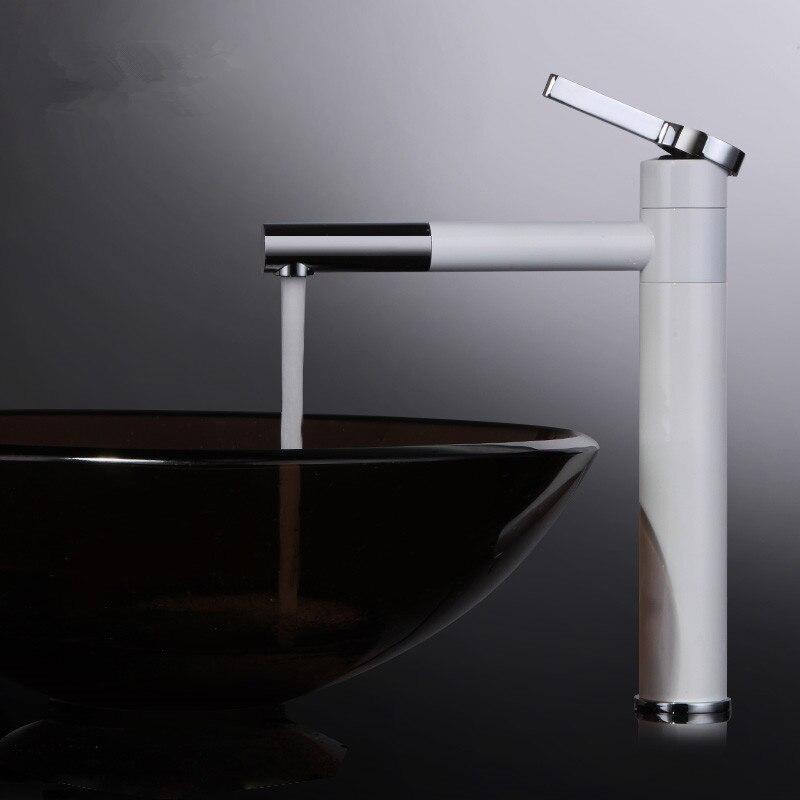 2017 New Arrival Elegant Design White Bathroom Vanity Tall Faucet ...
