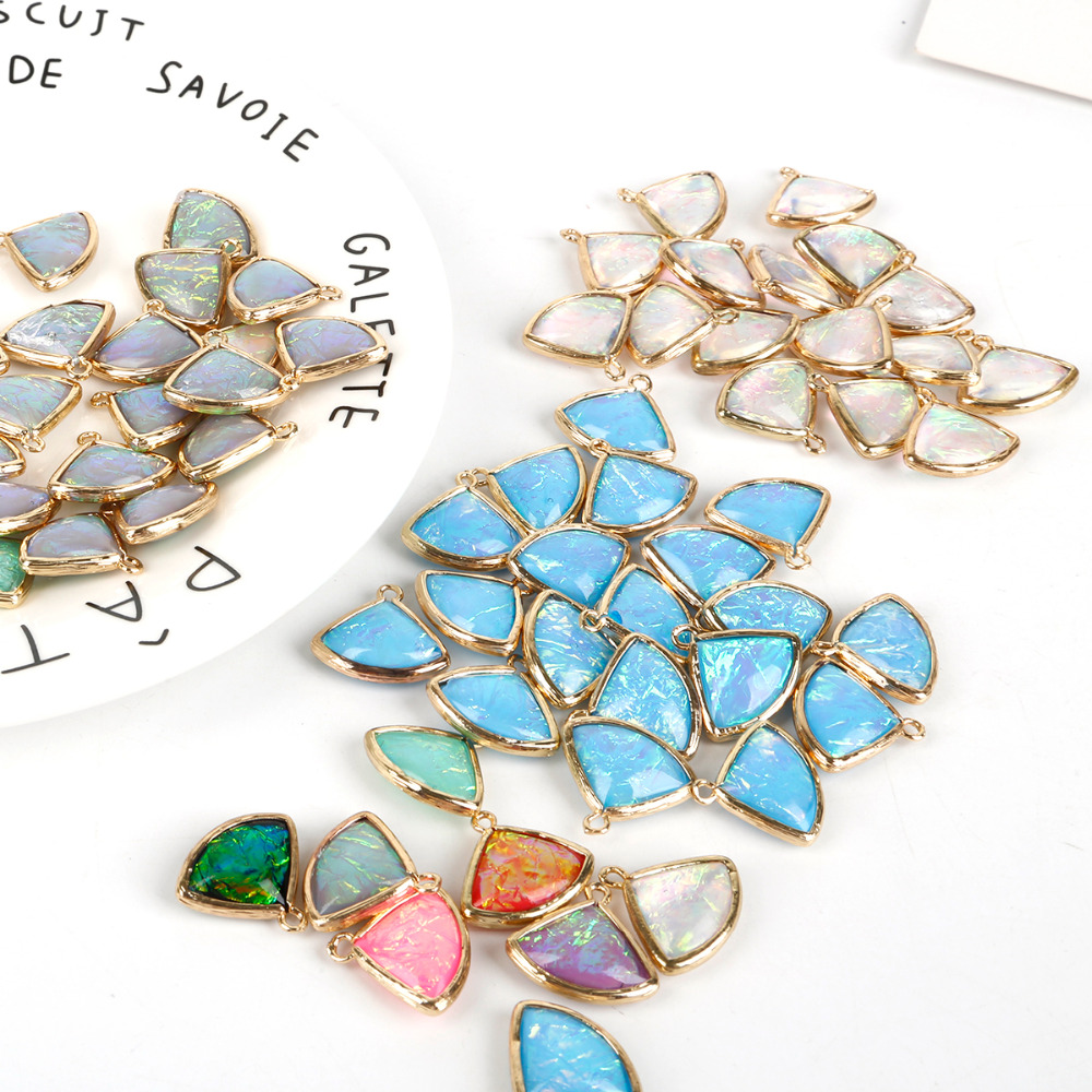 Resin Charms Jewelry-Accessories Gold-Base Golden-Colour Bracelet Earring Pendant-Fit