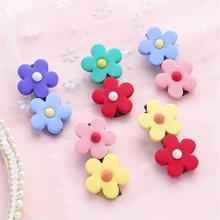 2019 New Cute Flower Hair Clips Soft Pottery Sun Hairpin Bangs Clip Children Baby Girl Accessories