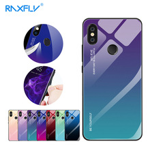 RAXFLY Colorful Glass Case For Xiaomi Redmi K20 Pro Note 7 5 6 Tempered Phone Cases Mi 9 Se 9T Cover