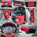 Automotive supplies 10pcs/set  automotive interior decoration set cute cartoon handbrake cover gear set
