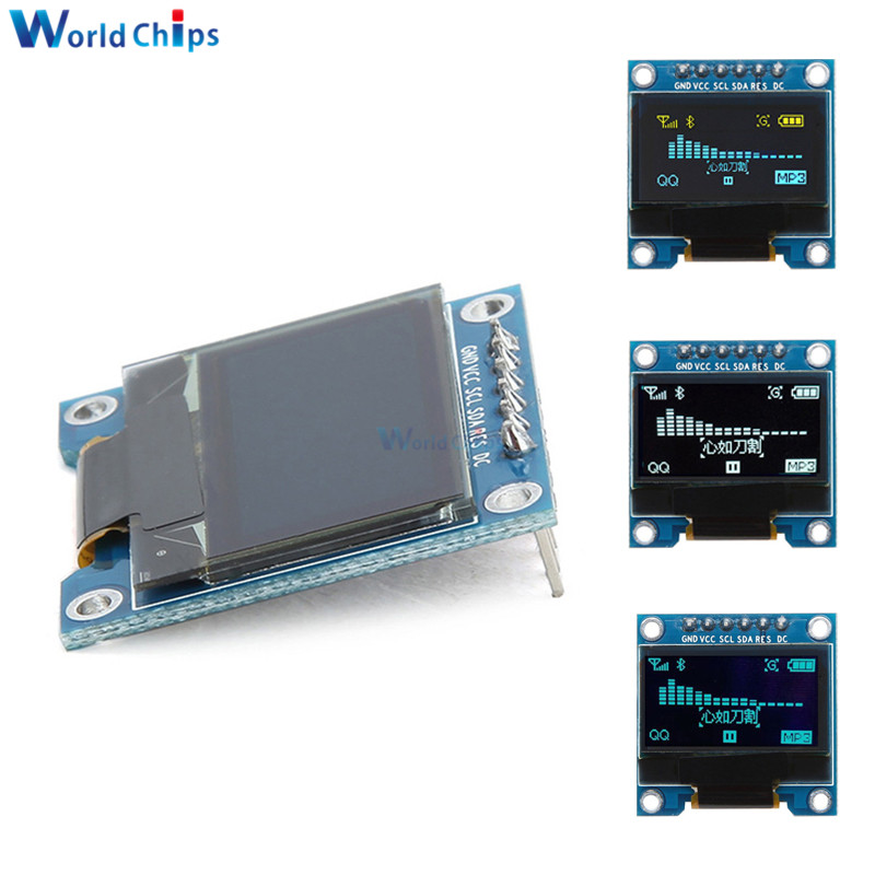 6Pins 0.96 Inch SPI I2C OLED Digital SSD1306 Display 12864 SPI Interface Blue/White LCD Display Module DIY For Arduino 51 SMT32