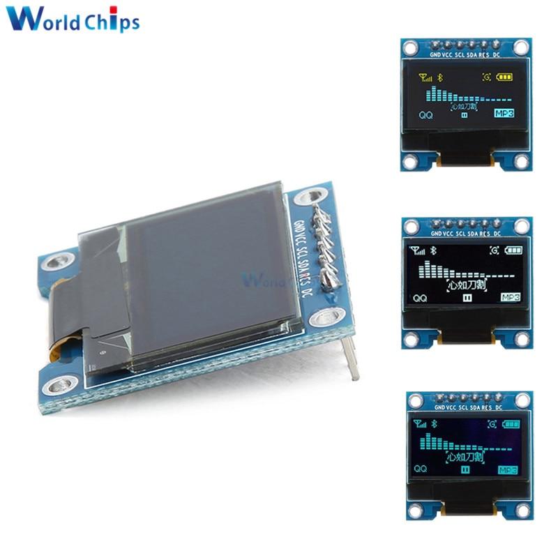 6Pins 0.96 Inch SPI I2C OLED Digital SSD1306 Display 12864 SPI Interface Blue/White LCD Display Module DIY For Arduino 51 SMT32