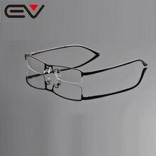 EV супер тонкие дужки для глаз, очки с полуоправой, мужские деловые оптические оправы для близорукости, линзы Anteojos Marcos OpitcosEV0938