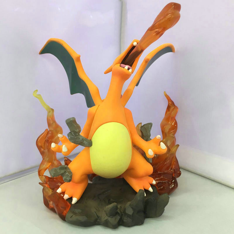 Charizard Aciton Figures Anime Fire-breathing Dragon Doll Puppets Pocket Monster Figure Toys For Children Boys Birthday Gifts 5 pcs lot cartoon anime wallet wholesale nintendo game pocket monster charizard pikachu wallet poke wallet pokemon go billetera