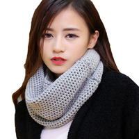 Women Winter Thick Warm Knitted Crochet Viscose Scarfs Infinity Cowl Circle Loop Ring Scarves Shawl