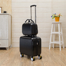 Lovely candy color trolley luggage set with universal wheels 14 16inch korea fashion style travel luggage