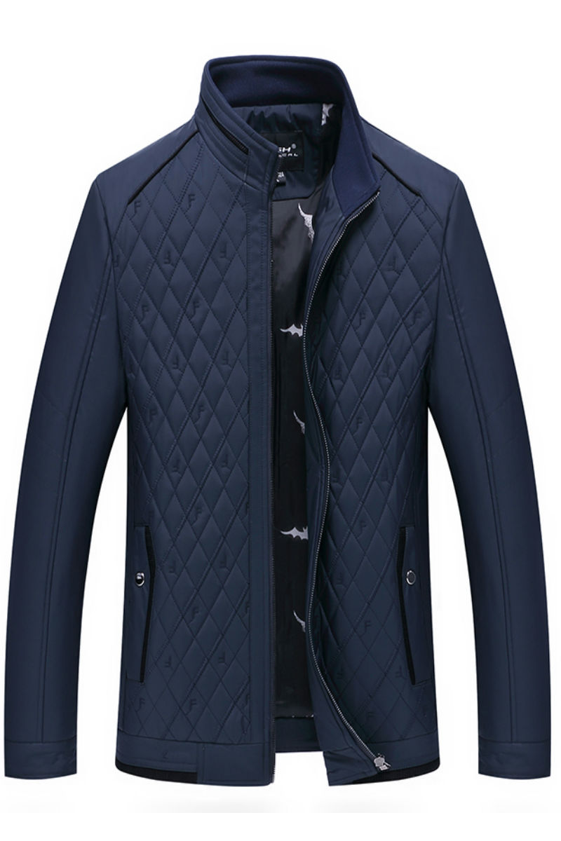 Special Winter Coats Middle aged Male Collar Thin Section Down Cotton padded Jacket Coat Thin Man