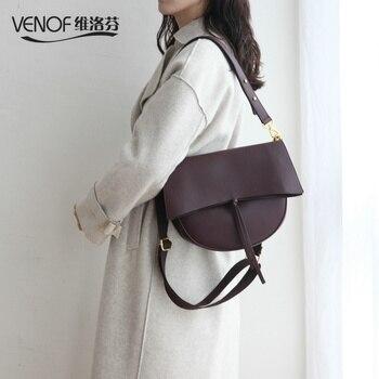 60f772cac VENOF de lujo de las mujeres de cuero de bolso de mensajero femenino espacioso  bolsas elegante señoras bolso, bolso de hombro para las mujeres 2018