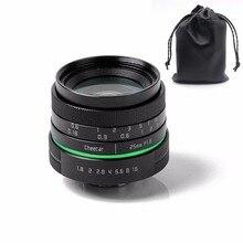 New green circle 25mm APS-C CCTV camera lens for  sony NEX canon E0SM N1 PQ Panasonic Lumix micro camera +gift  free shipping