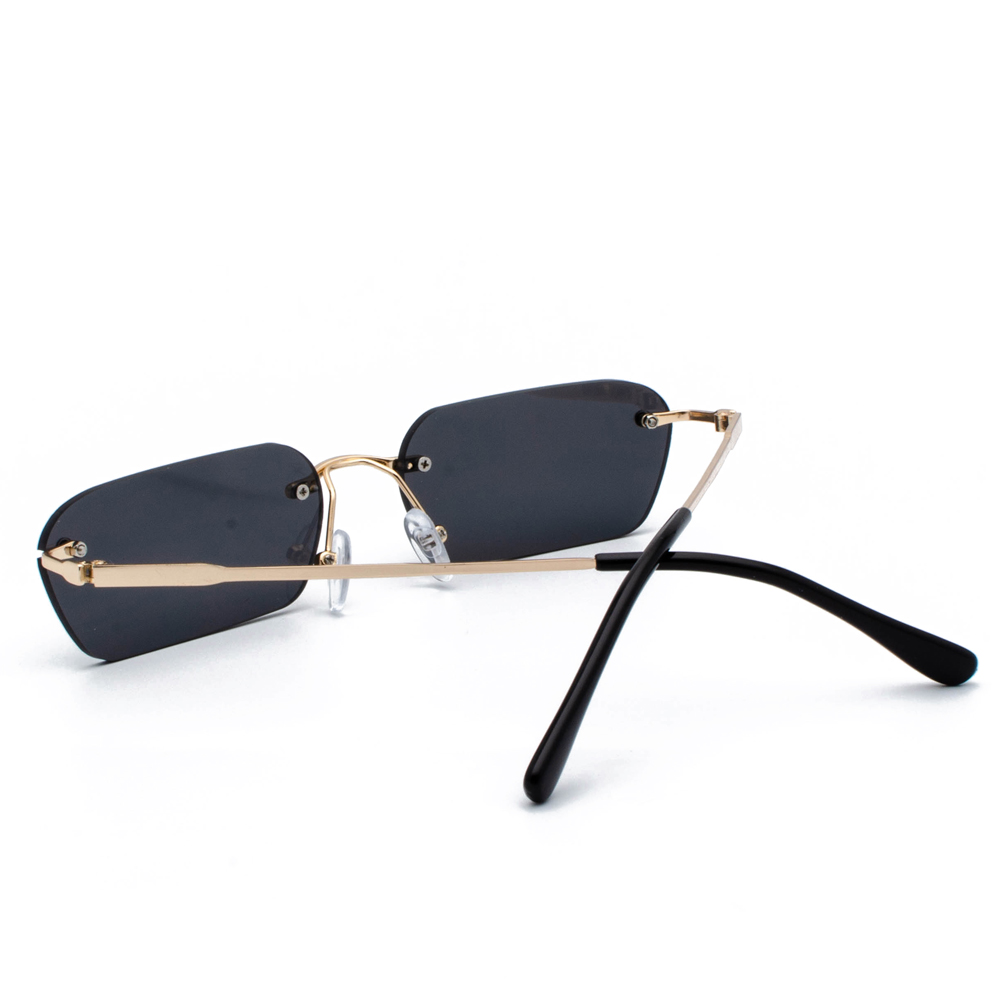 Peekaboo rimless rectangle sunglasses women clear color 2019 summer accessories square sun glasses for men small size uv400 4
