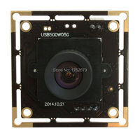 10pieces 5MP 2592x1944 usb Video Surveillance PCB Board Aptina MI5100 CMOS no distortion lens high resolution camera board