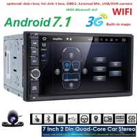 Android 7 1 HD Screen Quad Core 2G RAM 16G ROM 2 DIN Universal Android GPS