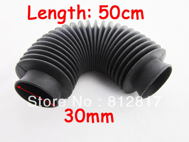 Machinery black rubber flexibility corrugated sleeve