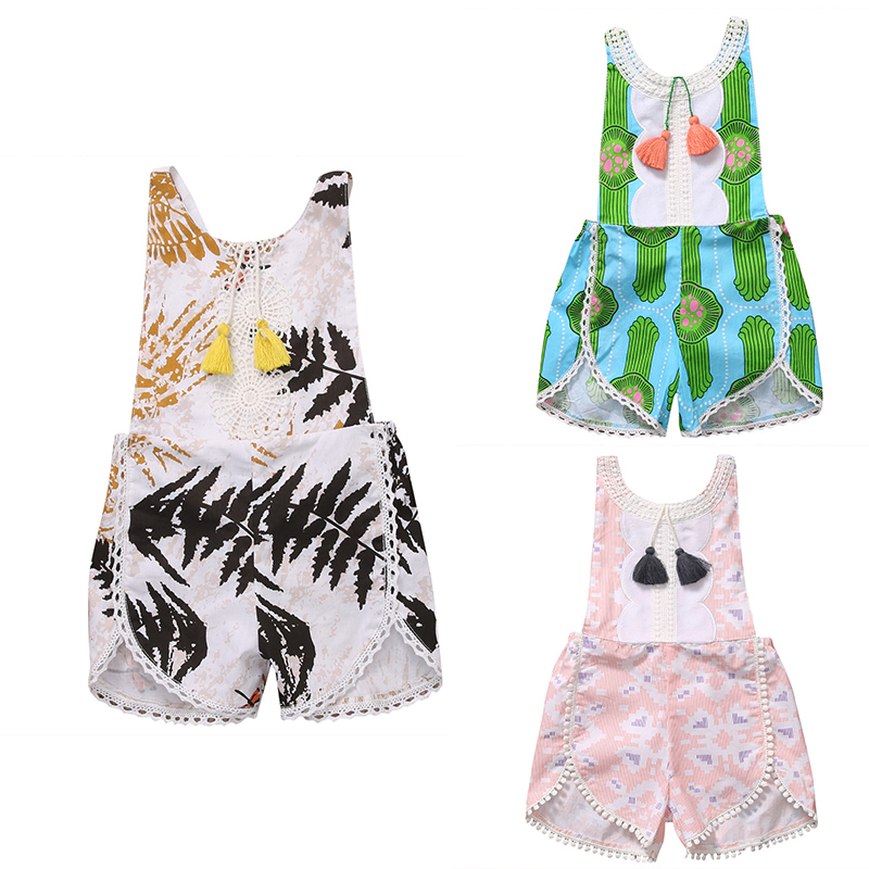 Tassles 3 Styles Babies Floral Rompers Summer Newborn Toddler Baby Boys Girl Backless Romper Jumpsuit Outfit Sunsuit Clothes newborn infant baby girl clothes strap lace floral romper jumpsuit outfit summer cotton backless one pieces outfit baby onesie