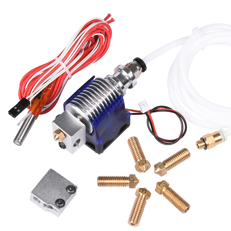 3D printer V6 J-head Hotend Bowden Extruder with Fan 1.75mm 3.0mm Filament Wade Extruder 0.2/0.3/0.4/0.5mm Nozzle + Volcano kit