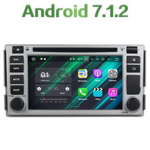 "2GB RAM 16GB ROM Double 2 DIN Android 7.1.2 Quad core 6.2"" Car Radio Stereo Player Bluetooth For Hyundai SANTA FE 2005"