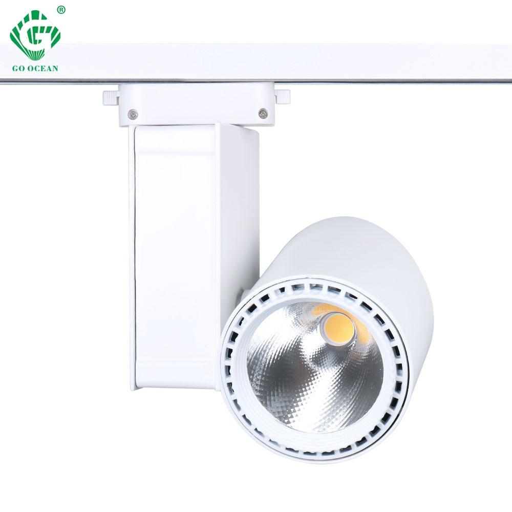 30w Led Track Lighting Fixtures: Aliexpress.com : Buy LED Track Light 30W Black White COB