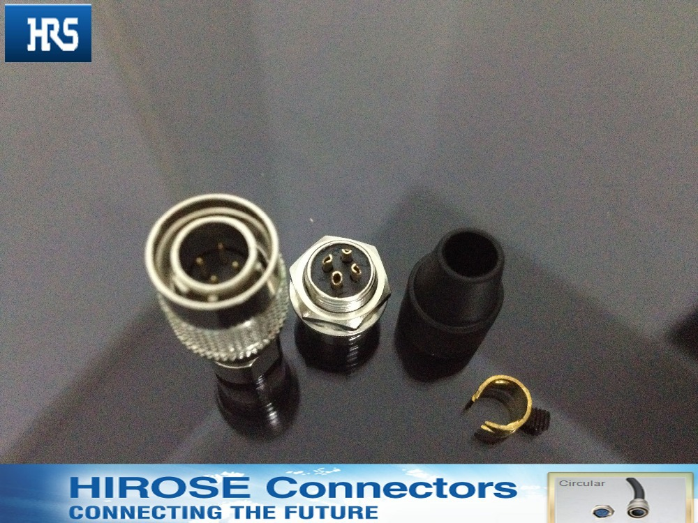 Hirose connector plug socket HR10A - 7 p - 4 p, 4 pin plug socket. Industrial connectors, plug self-locking connector 5pairs m8 3 pin locking connectors aviation plug socket male