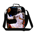 Personalized James lunch bag for teen boys,mens cool work lunch with strap,Kobe shoulder insulated food bga with bottle holder