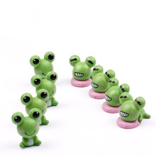 2 pcs Frog Lover Animal Miniature Fairy Garden Home Houses Decoration