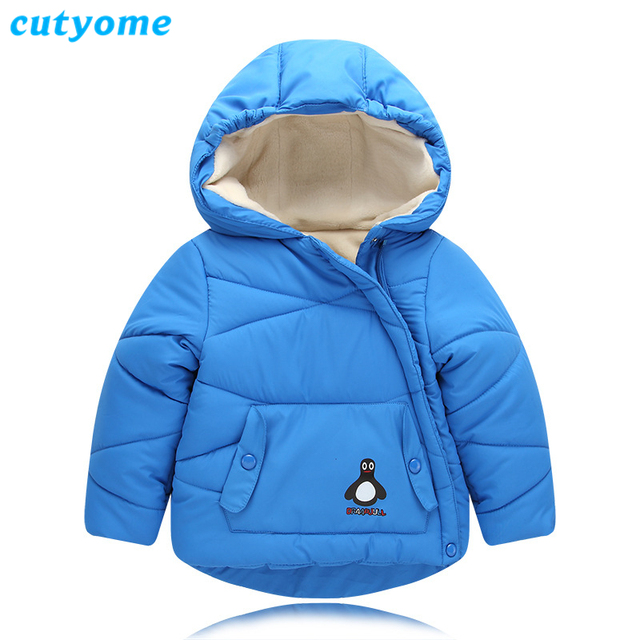 d0543317 Cutyome Unisex Baby Winter Clothes Novelty Hooded Polyester Patchwork Paded Fleece  Jackets Casual Children Outerwear Parka Coats