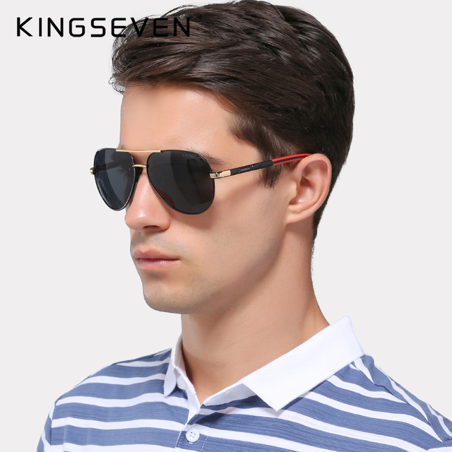 Men Vintage Aluminum Polarized Sunglasses Classic Brand Sun glasses 2