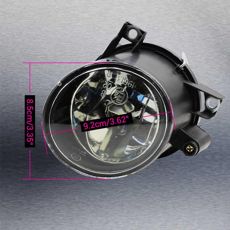 Cawanerl 2 Buah Mobil Styling 100 W Lampu Kabut H3 Bohlam Halogen Siang Hari Lampu 12 V untuk Volkswagen POLO 9N MK4/Fox 5Z1 5Z3