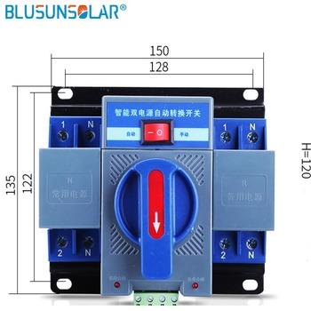 230V Auto Micro przerywacz podwójna moc automatyczny przełącznik transferu 2P 10A 16A 25A 32A 40A 50A 63A 230V przełącznik automatycznego przełączania tanie i dobre opinie BLUSUNSOLAR CN (pochodzenie) Mini Electrical DC Isolator Switch