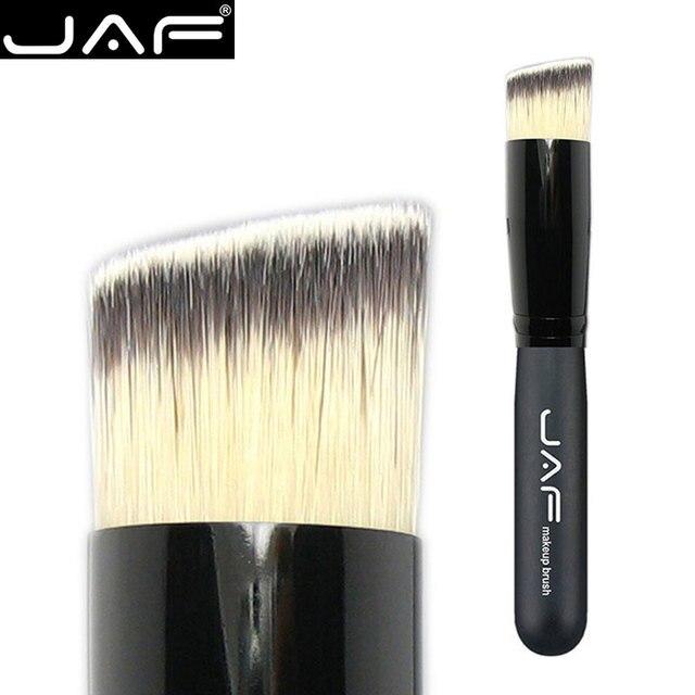 JAF pod kątem wielofunkcyjny pędzel do makijażu twarzy płynny podkład produkt do konturowania, co zrobić, jeśli skos pędzel syntetyczny Taklon wegańskie 16STA