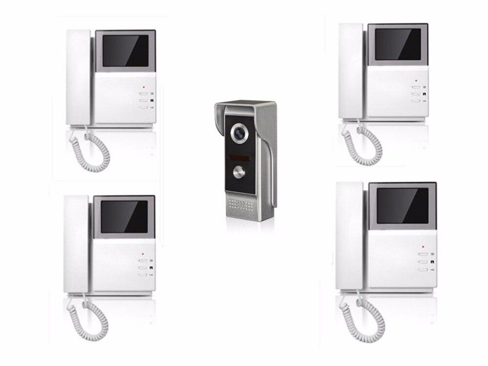4.3 Inch Handheld TFT Monitor 1v4 Two Way Intercom Video Door Phone XSL-43E165-M