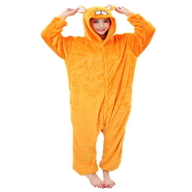 Желтый собака весна фланель Пижама Кигуруми для животных пижамы собака платье-шорты с длинными рукавами и воланами Косплей унисекс Мягкая ...