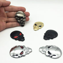 цены FDIK Car Styling 3D Metal The Punisher Skull Emblem Badge Car Stickers and Decals Auto Motorcycle Car Accessories Automobiles