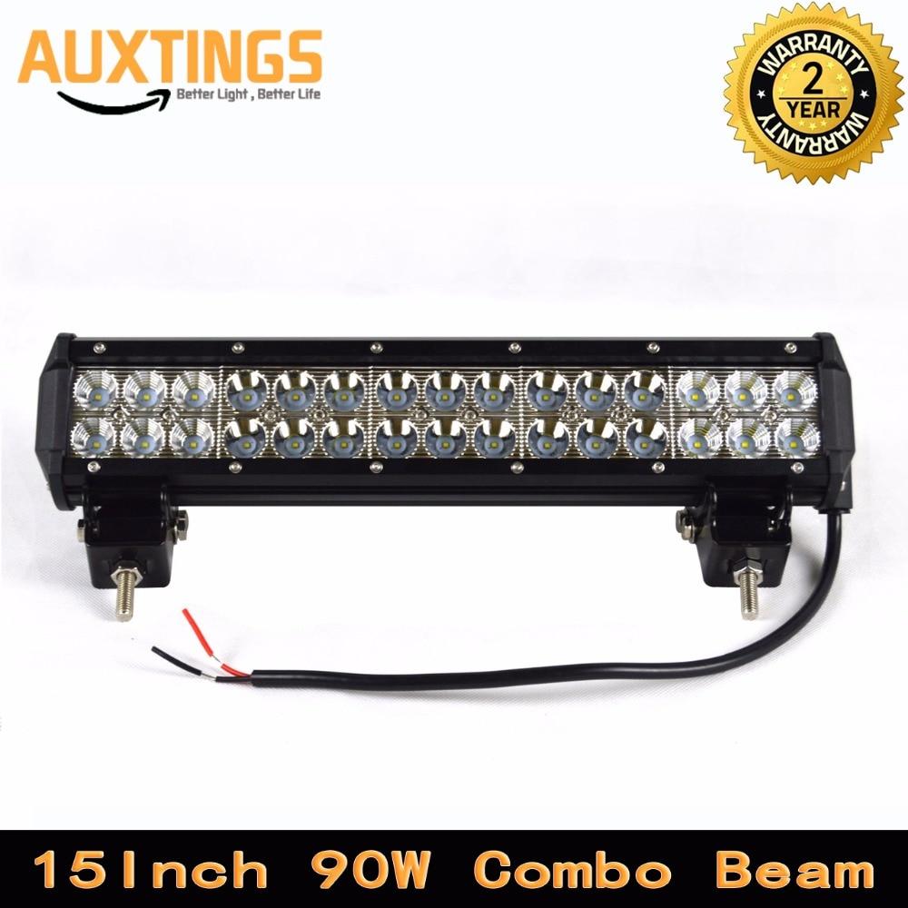FREE SHIPPING 4x4 90w led light bar 4x4 15\