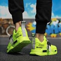 Fuegos 2019 hombres zapatos casuales marca Zapatillas para hombres luz exterior malla hombre moda Zapatillas vulcanizadas Zapatos Mujer