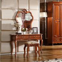 European mirror table antique bedroom dresser French furniture french dressing table o1183