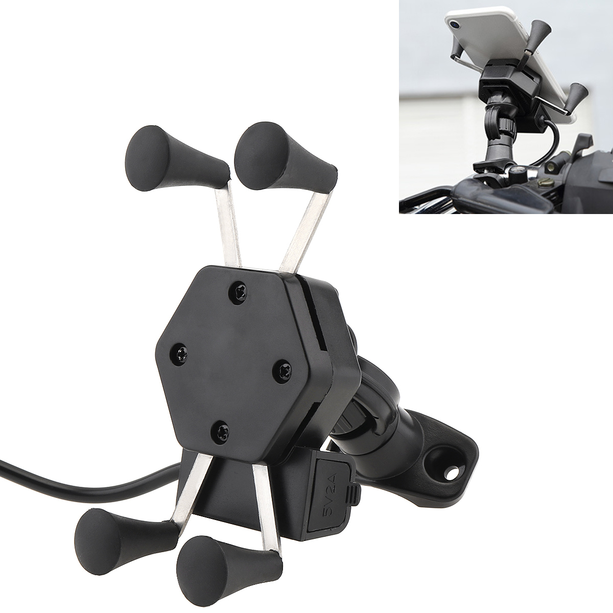 Image 5 - Universal Adjustable Bike Bicycle Motorcycle Mobile Phone Silicone Holder Buckle Pull Nonslip Cellphone  Handlebar Bracket Stand-in Falling Protection from Automobiles & Motorcycles