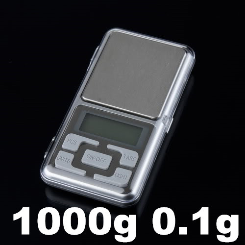 Electronic Digital Pocket Jewelry Kitchen Weight Scale 1000g 1kg 0.1g with retail box