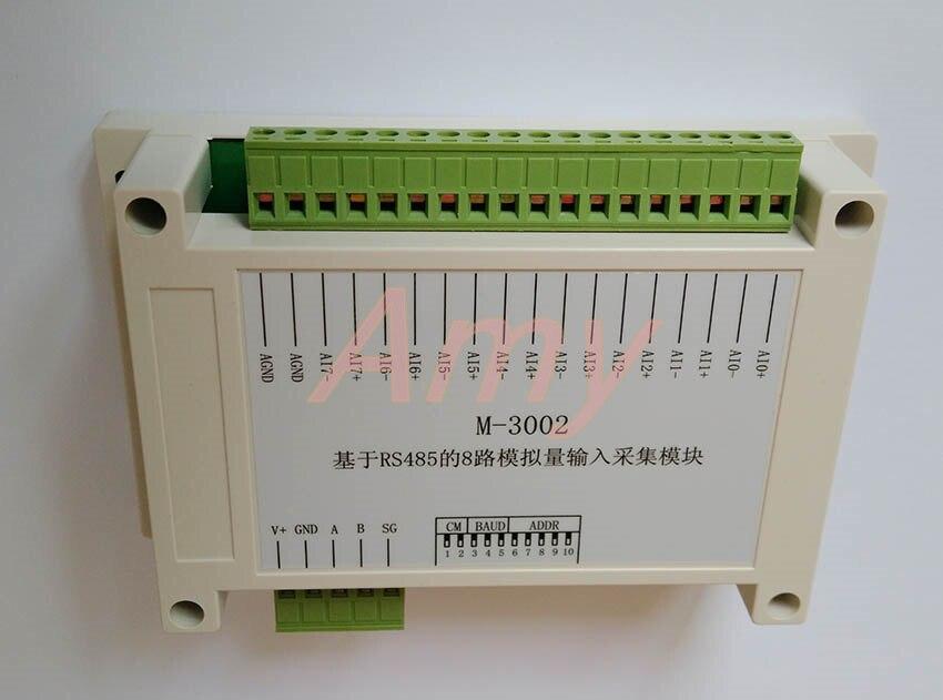 8 way voltage / current analog input collection module 0~10V 4~20ma sensor input communication card