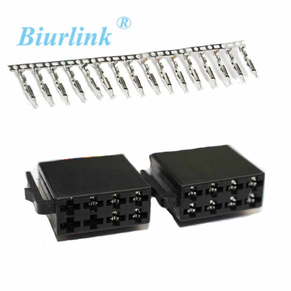 Biurlink Mini ISO 8 Pin Terminal Block Socket Connector Harness Cable Connector ISO 8Pin Port