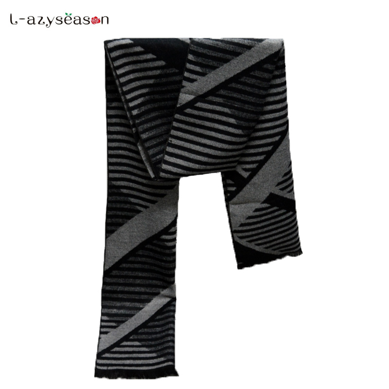 2018 autumn winter Design Luxury Brand Winter Men Scarf women warm Classic Fashion Bussiness Black plaid Casual Scarves For Male