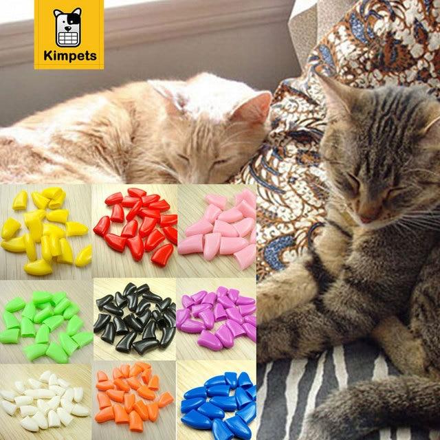 20 pcs 1 Bag Soft Nail Caps for Cats Pet Cat Nail