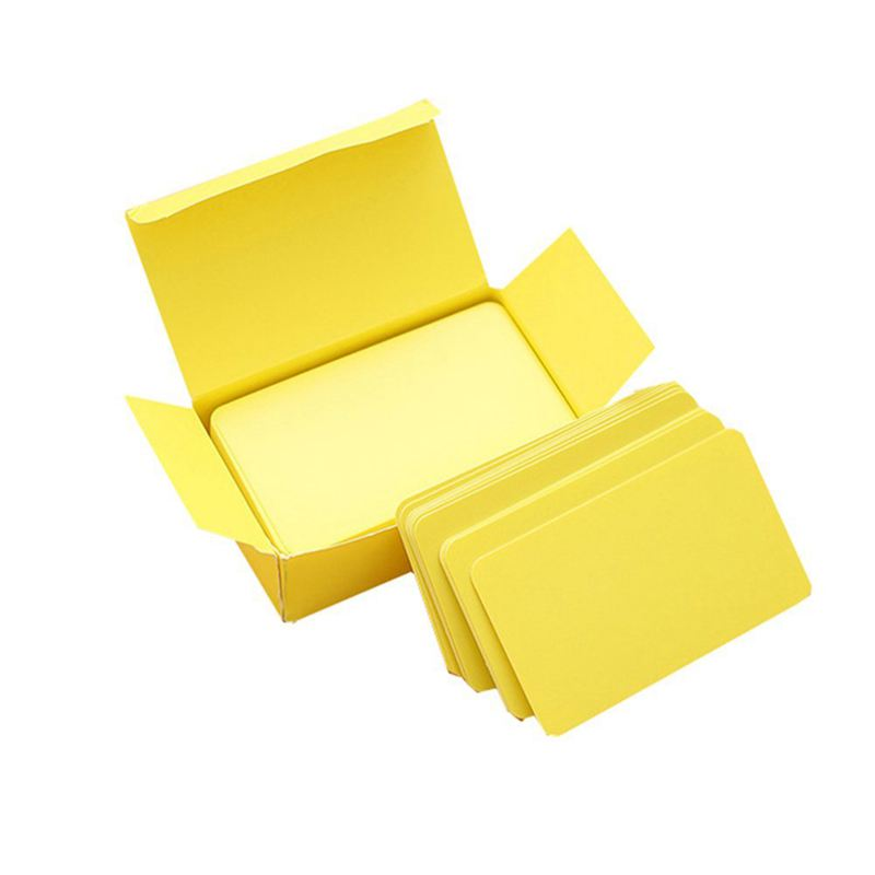 100 Memory Cards Blank DIY Graffiti Word Cards Net Small Memo Pad Blocks Memorandum Note Blank Word Cards (yellow)