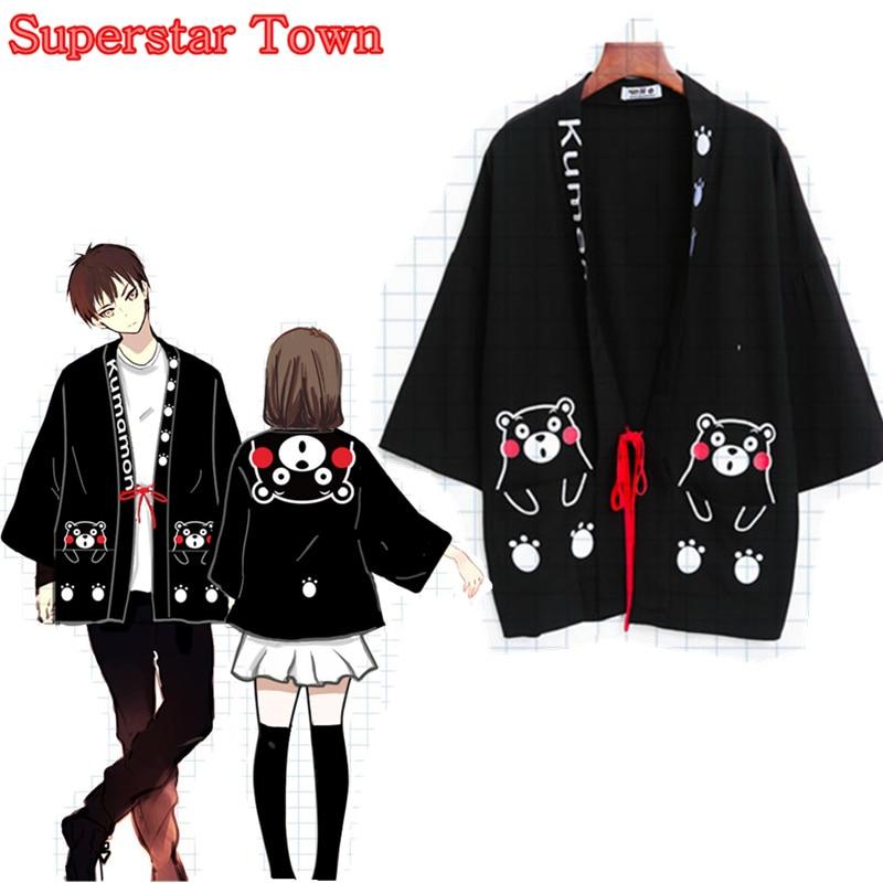 Japanese Kawaii Anime Clothes Kumamon Cosplay Summer Coat ...