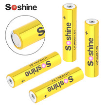 4pcs Soshine Super 1.5V 1200mAh AAA FR03 Micro LITHIUM Battery Non-rechargeable Dry Batteries with Super Continuous Discharge