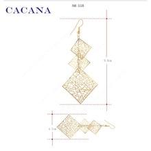 CACANA  Dangle Long Earrings For Women Hollow Patten Square Bijouterie Hot Sale No.A193 A194
