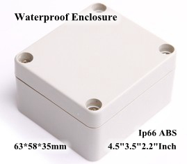 Abs Ip66 Waterproof Enclosure Electronic Plastic Box 64*58*35mm 4.53.52.2Inch Diy Junction Distribution Switch Outdoor Box 1 piece lot 64 58 35mm clear abs plastic ip65 waterproof enclosure pvc junction box electronic project instrument case