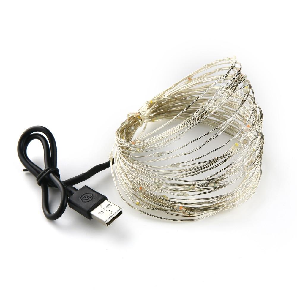 Pasaku gaismas stīgu akumulatoru darbināms USB ūdensizturīgs 2 - Brīvdienu apgaismojums - Foto 6
